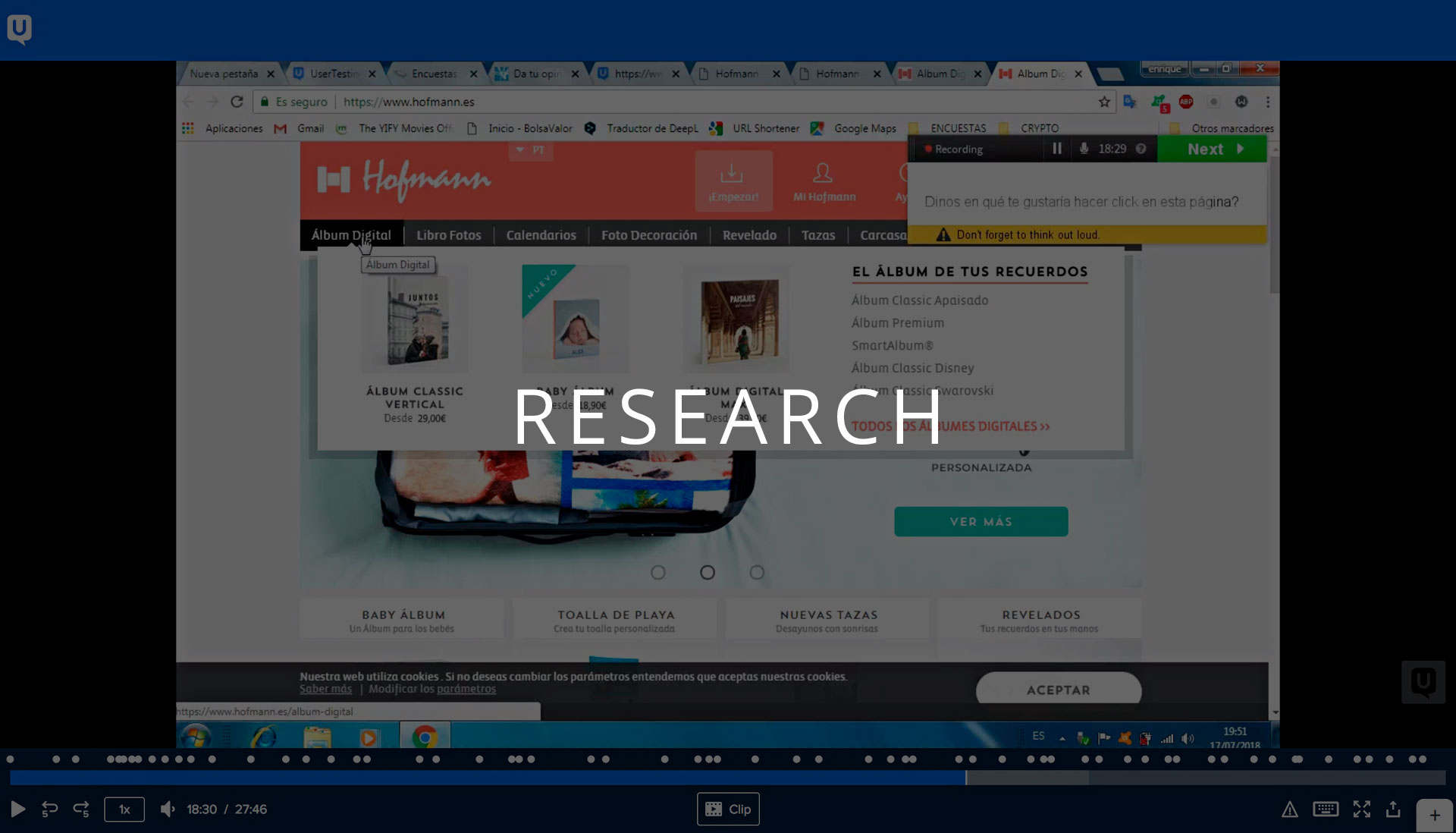 01 Research: unmoderated usability testing