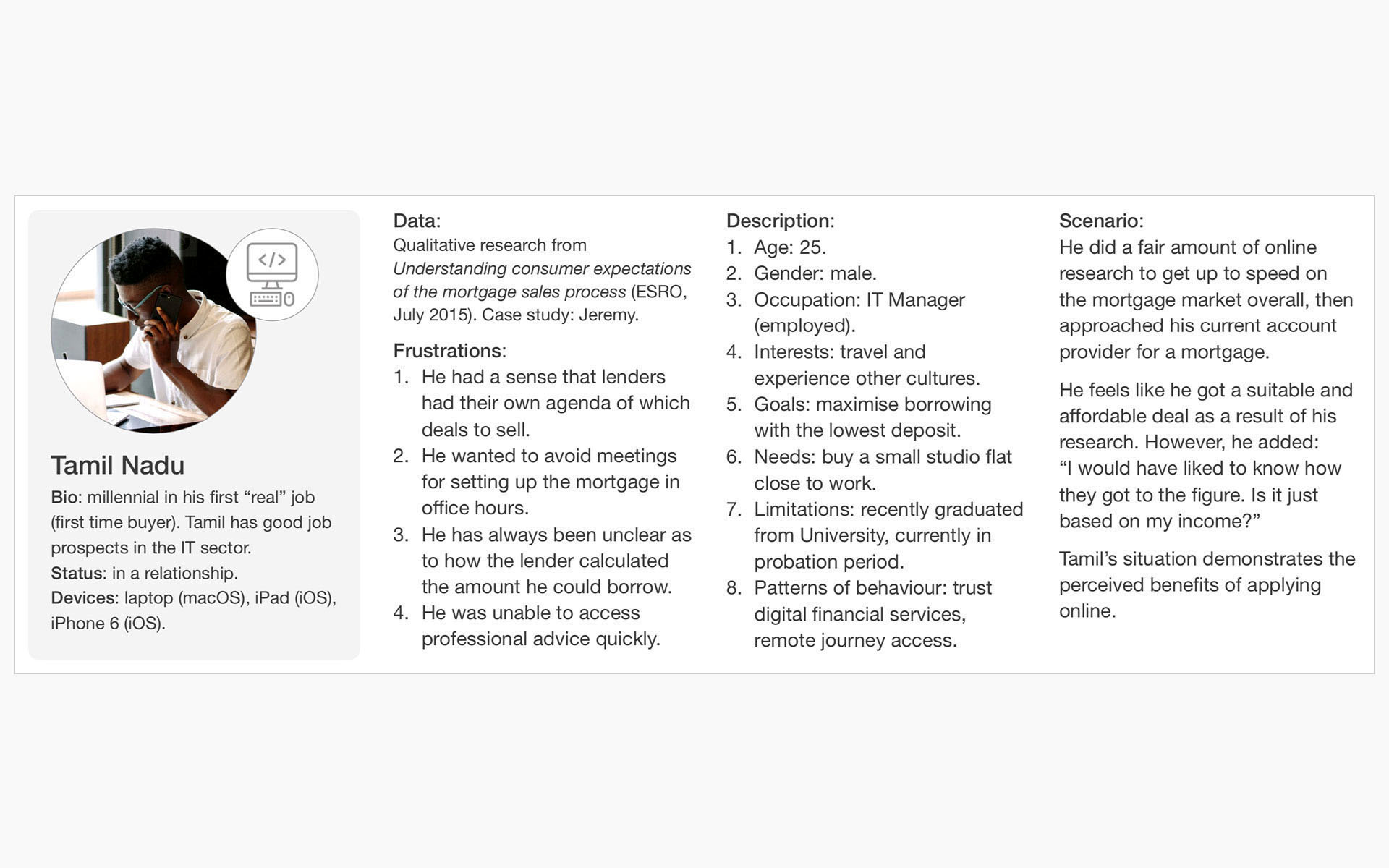 research - user personas - borrower 2